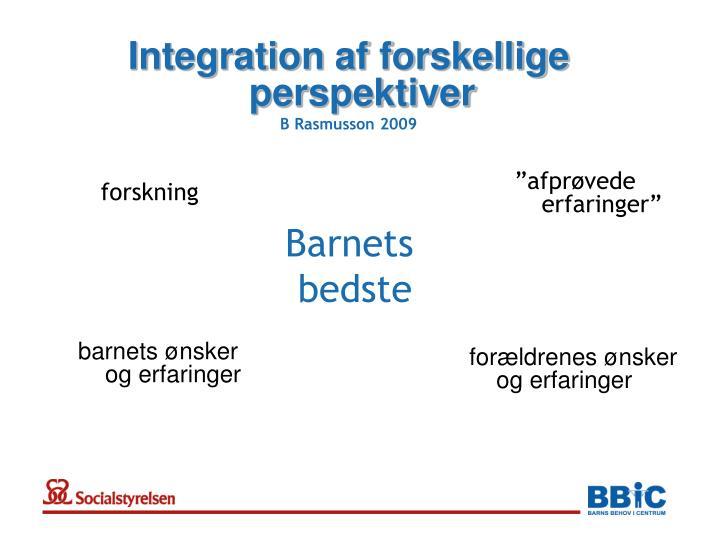 Integration af forskellige perspektiver