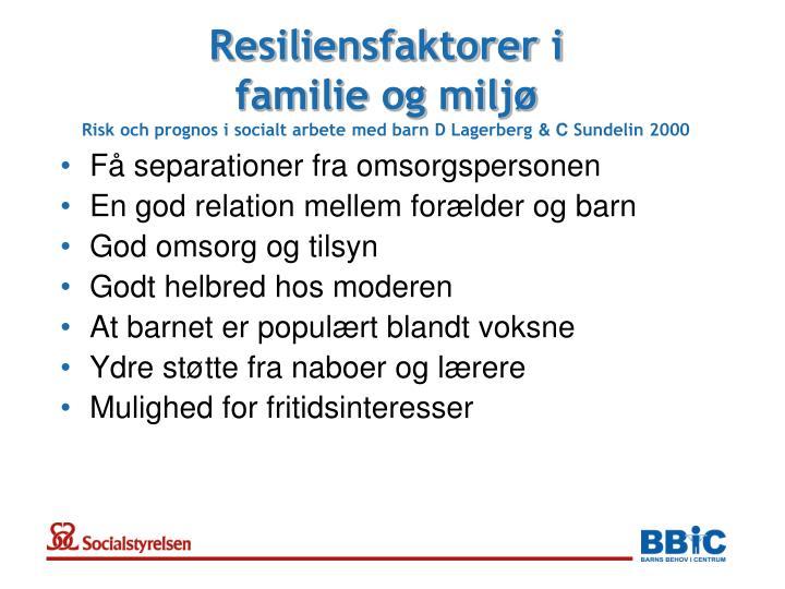 Resiliensfaktorer i
