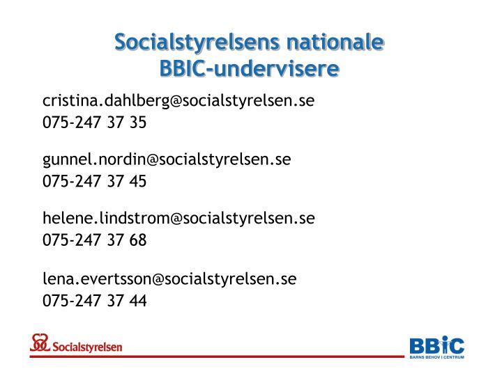 Socialstyrelsens nationale