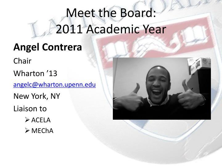 Meet the board 2011 academic year