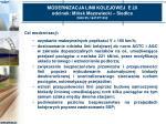 modernizacja linii kolejowej e 20 odcinek mi sk mazowiecki siedlce 2000 pl 16 p pt 0022