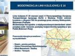 modernizacja linii kolejowej e 20