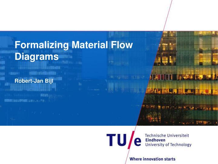 formalizing material flow diagrams n.