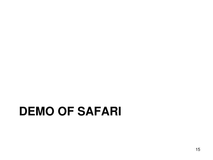DEMO of Safari