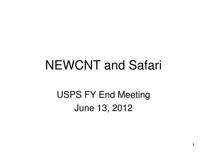 Newcnt and safari