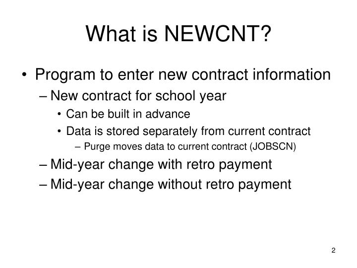 What is newcnt