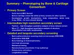 summary phenotyping by bone cartilage consortium