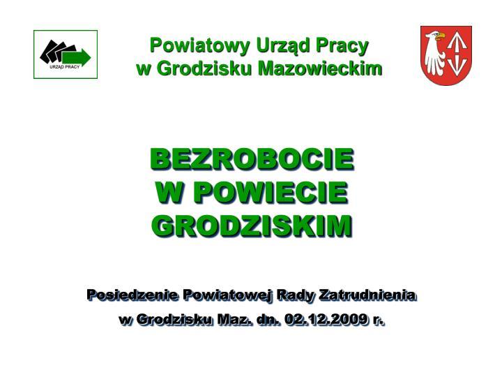 Powiatowy urz d pracy w grodzisku mazowieckim