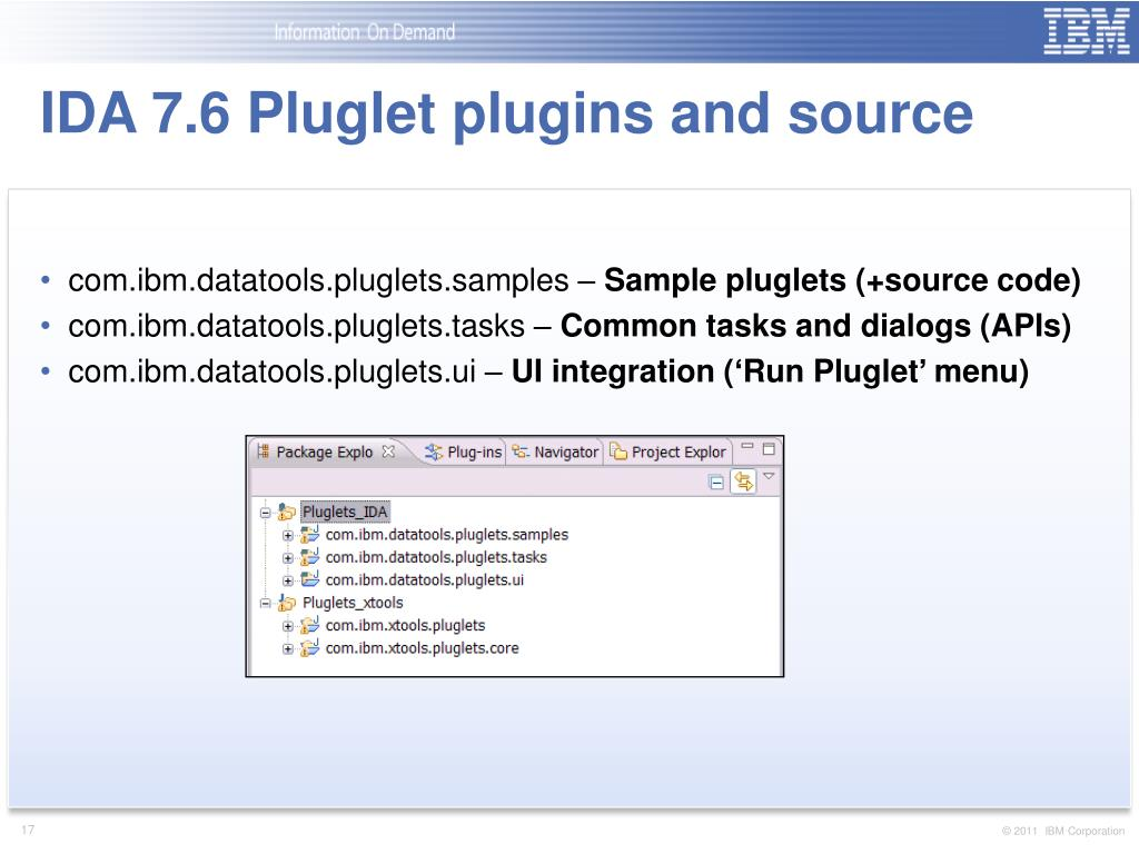 "PPT - IDA 7 6 – New Features: Pluglets (""Macros for Eclipse"