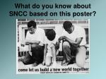 what do you know about sncc based on this poster