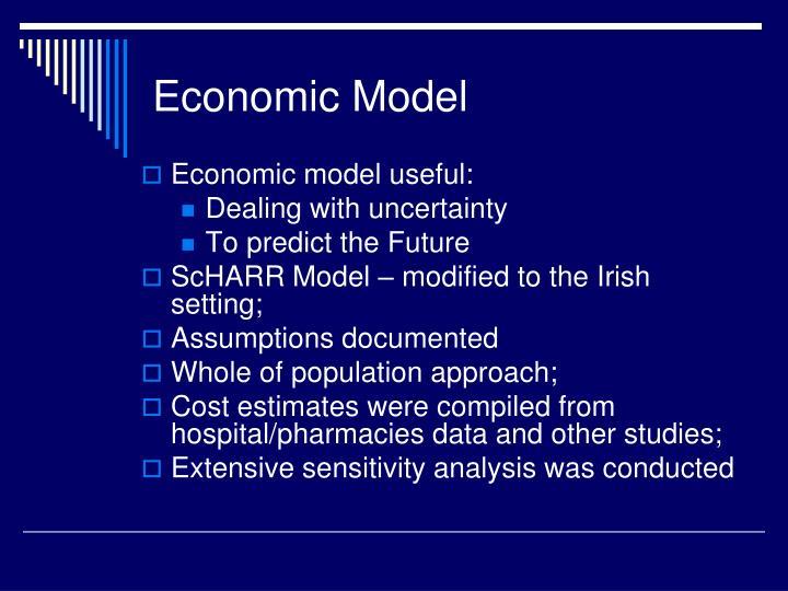 Economic model useful: