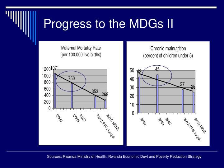 Progress to the MDGs II