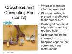crosshead and connecting rod cont d1