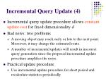 incremental query update 4
