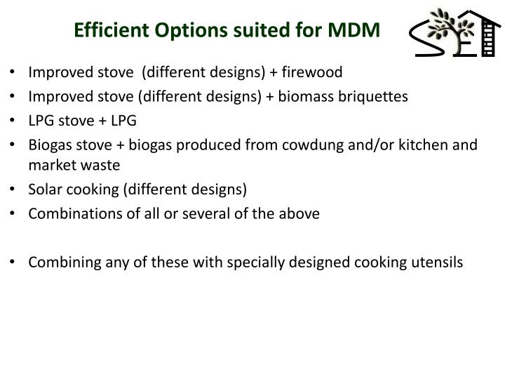 Efficient Options suited for MDM