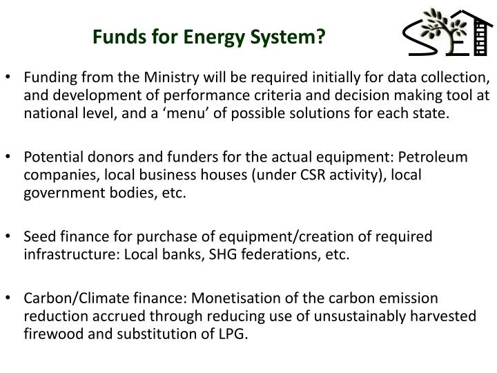 Funds for Energy System?