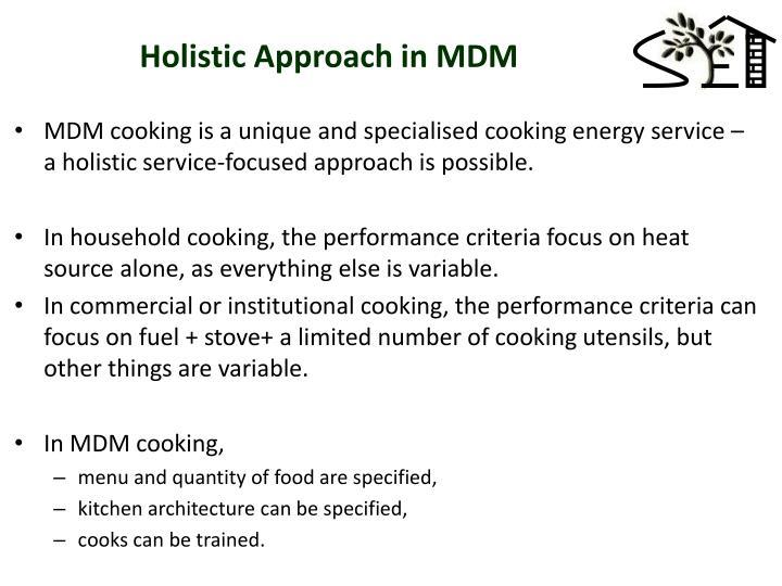 Holistic Approach in MDM