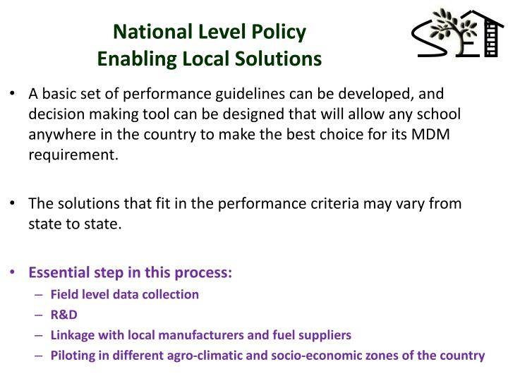 National Level Policy