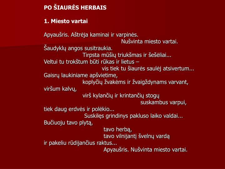 PO ŠIAURĖS HERBAIS