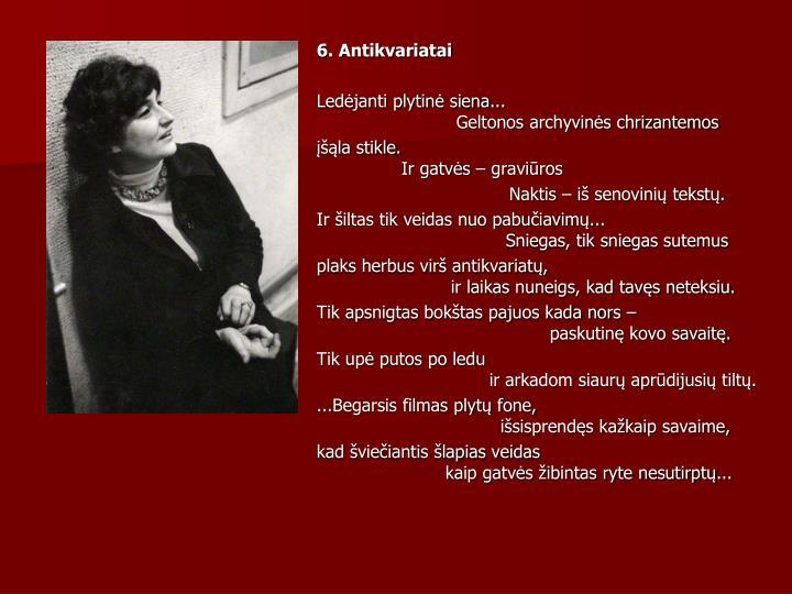 6. Antikvariatai