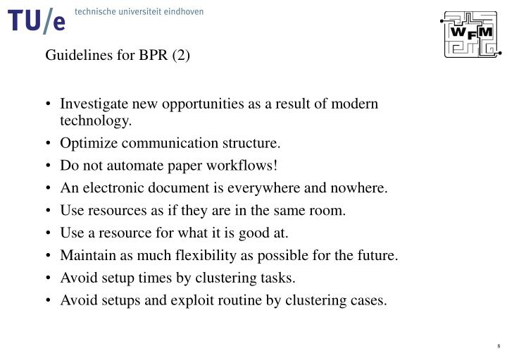 Guidelines for BPR (2)