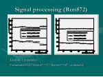 signal processing run872