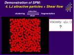 demonstration of spm 4 lj attractive particles shear flow