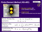 finite element method ns md
