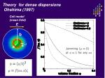 theory for dense dispersions ohshima 1997