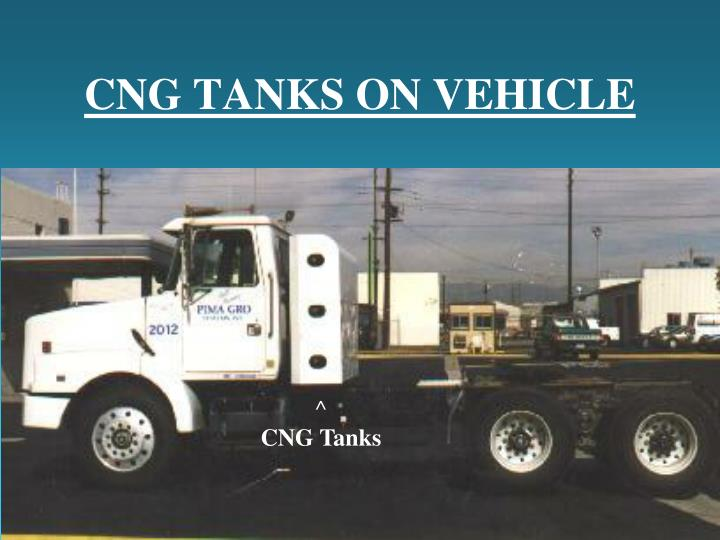 CNG TANKS ON VEHICLE