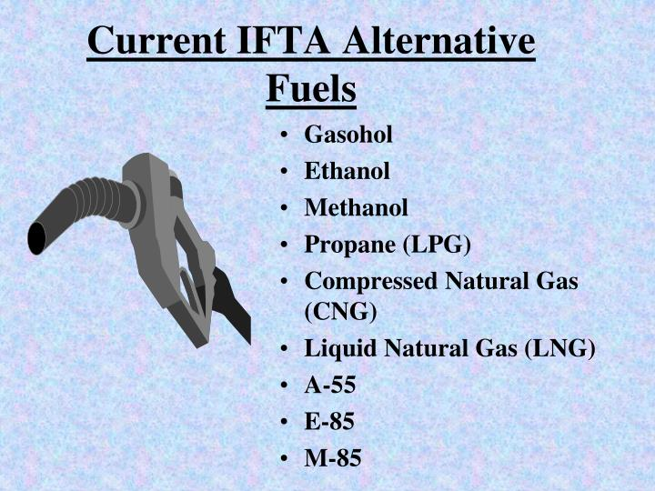 Current ifta alternative fuels