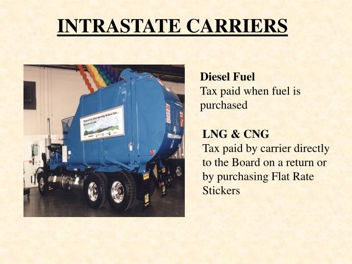 INTRASTATE CARRIERS