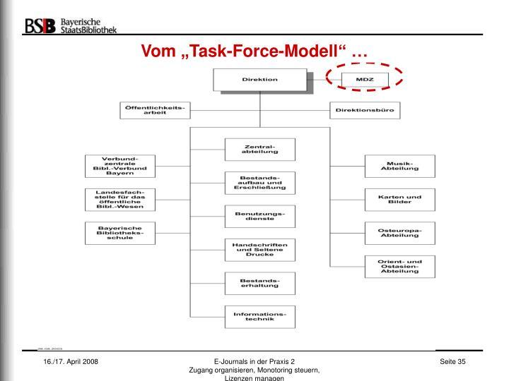 """Vom """"Task-Force-Modell"""" …"""