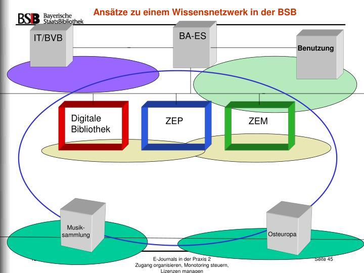Ansätze zu einem Wissensnetzwerk in der BSB