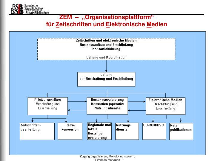 """ZEM  –  """"Organisationsplattform"""""""
