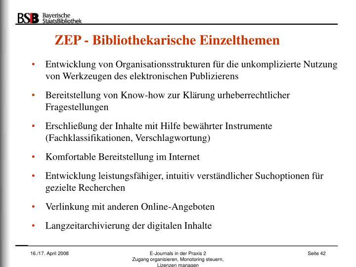 ZEP - Bibliothekarische Einzelthemen