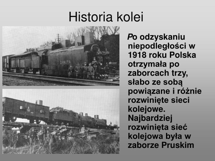 Historia kolei