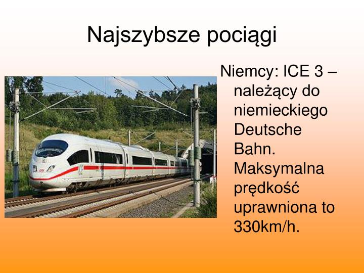Najszybsze pociągi