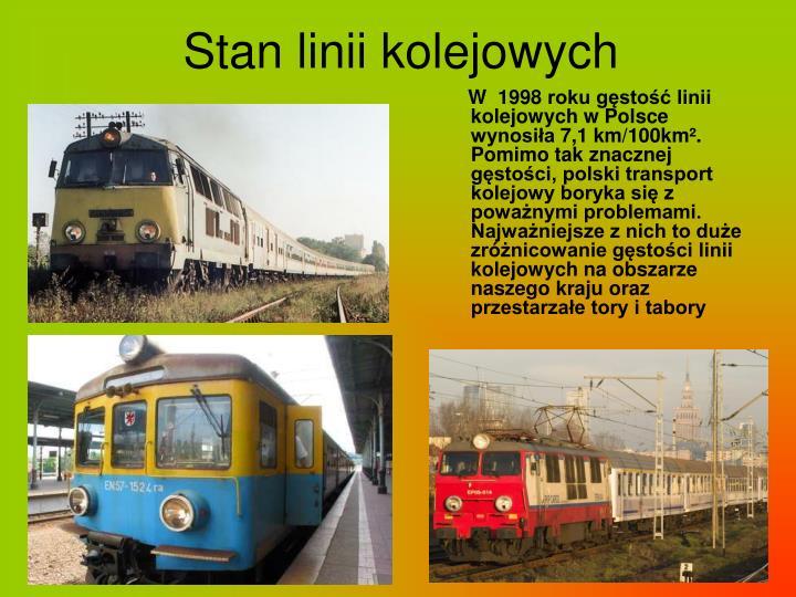 Stan linii kolejowych