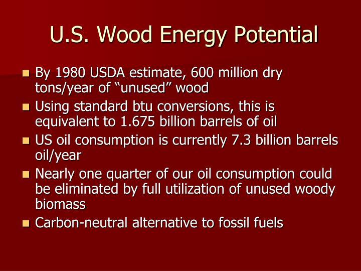 U s wood energy potential