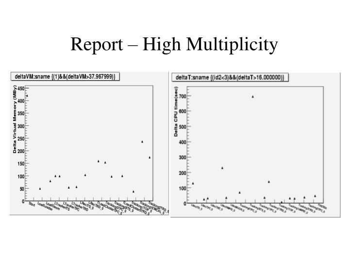 Report – High Multiplicity