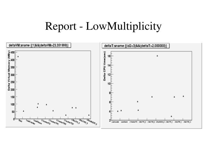 Report - LowMultiplicity