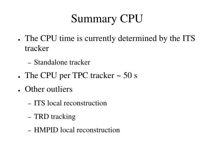 Summary CPU