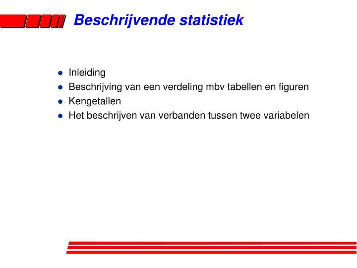 beschrijvende statistiek n.