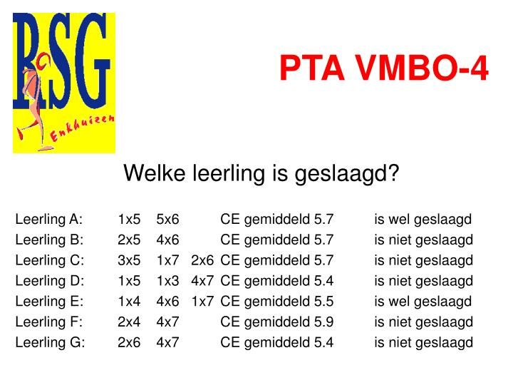 PTA VMBO-4