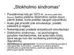stokholmo sindromas
