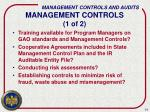 management controls 1 of 2