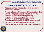single audit act of 1984