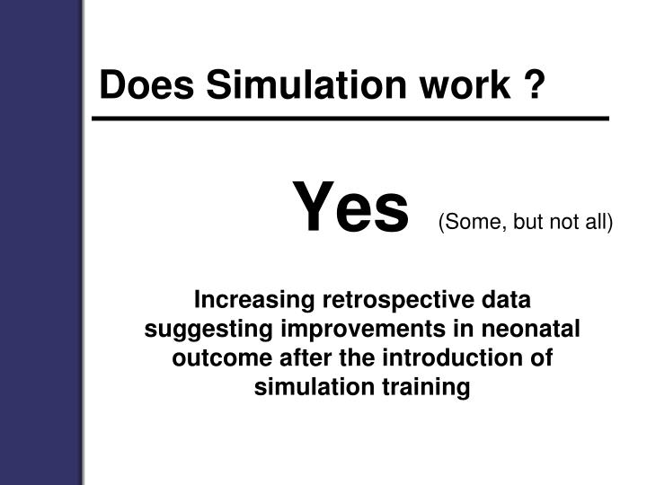 Does Simulation work ?