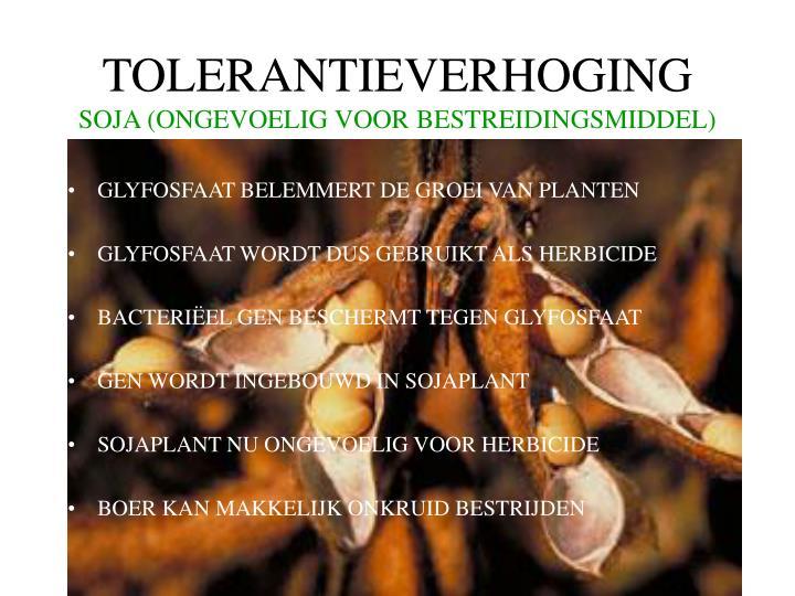 TOLERANTIEVERHOGING